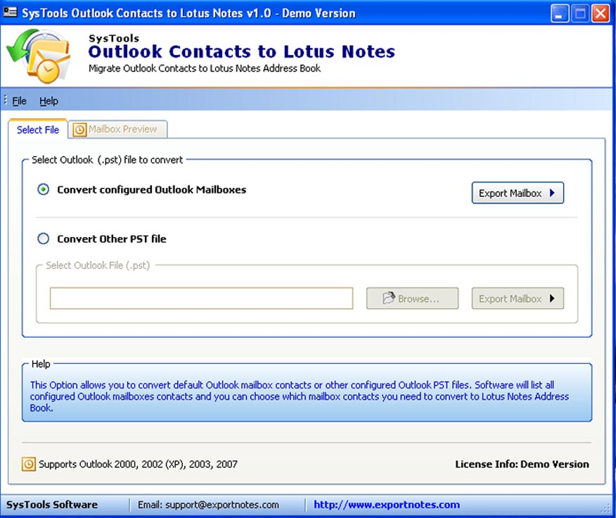 Outlook to Notes Address Book Conversion